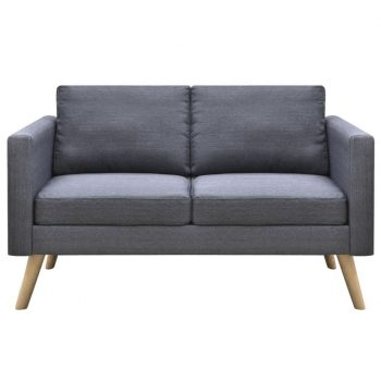 Kavč dvosed iz blaga temno sive barve
