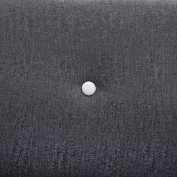 Kavč dvosed z oblogo iz blaga 115x60x67 cm temno sive barve