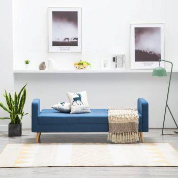 Kavč iz blaga modre barve