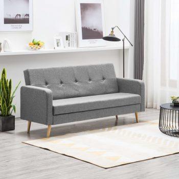 Kavč iz blaga svetlo sive barve