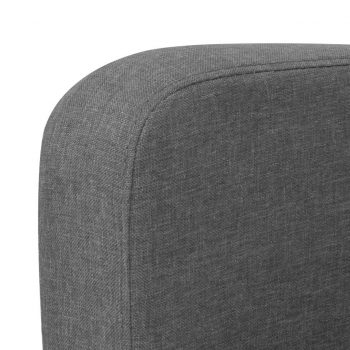Kavč trosed 180x65x76 cm temno siv