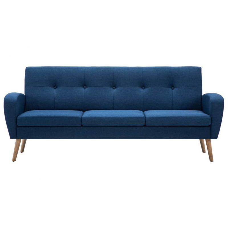 Kavč trosed iz blaga modre barve