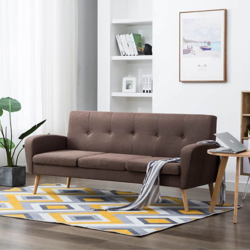 Kavč trosed iz blaga rjave barve