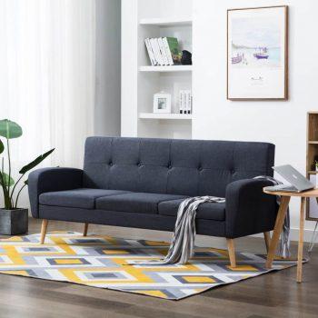 Kavč trosed iz blaga temno sive barve