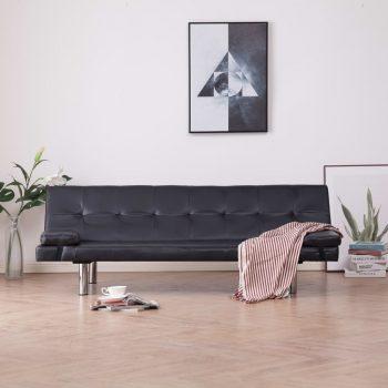 Kavč z ležiščem in 2 blazinama rjavo umetno usnje