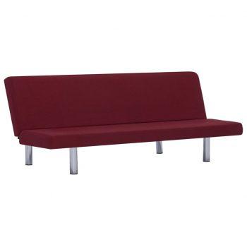Kavč z ležiščem vinsko rdeč poliester