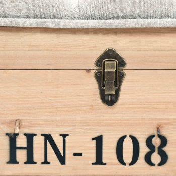 Klop za shranjevanje trden les in MDF 120x40x50 cm
