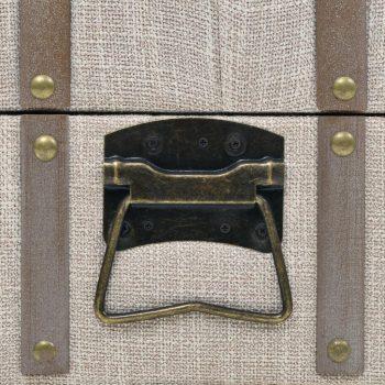 Klop za shranjevanje trden les in jeklo 111x34x37 cm