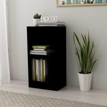 Knjižna polica črna 40x24x75 cm iverna plošča