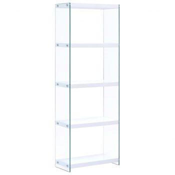 Knjižna polica 5-nadstropna MDF 60x29x167 cm bela