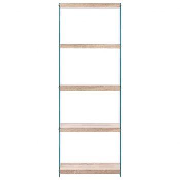 Knjižna polica 5-nadstropna MDF 60x29x167 cm hrast