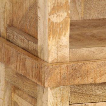 Knjižna polica 50x30x180 cm trden mangov les