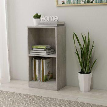 Knjižna polica betonsko siva 40x24x75 cm iverna plošča