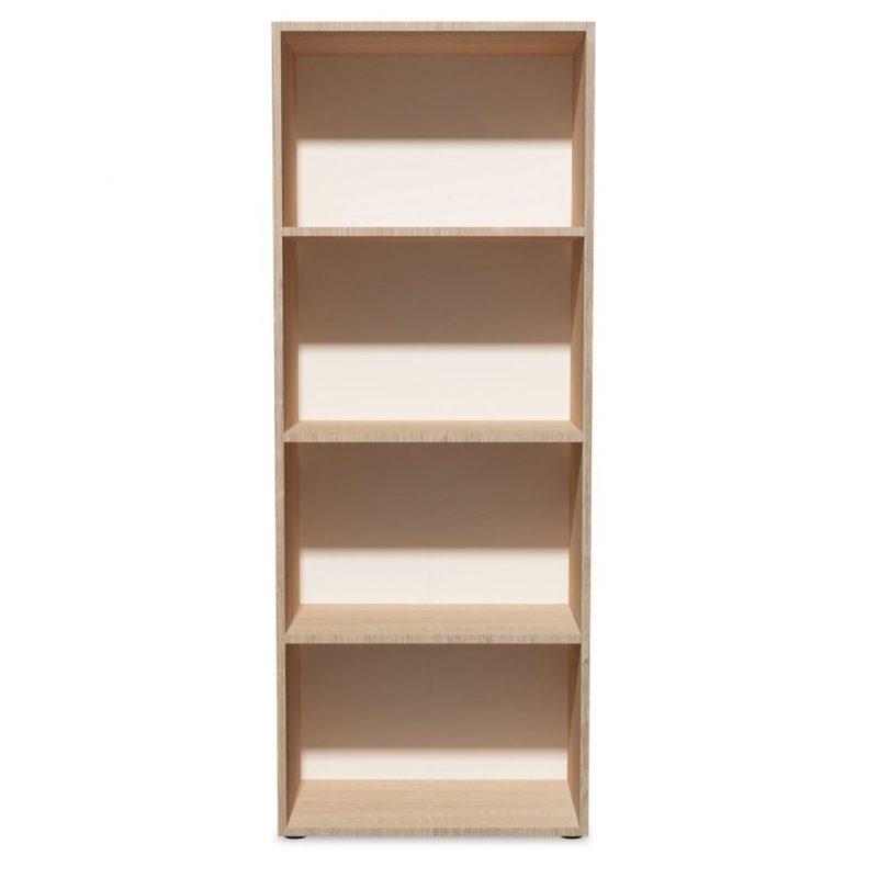 Knjižna polica iverna plošča 60x31x155 cm hrast