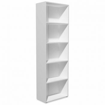 Knjižna polica iverna plošča 60x31x190 cm bele barve