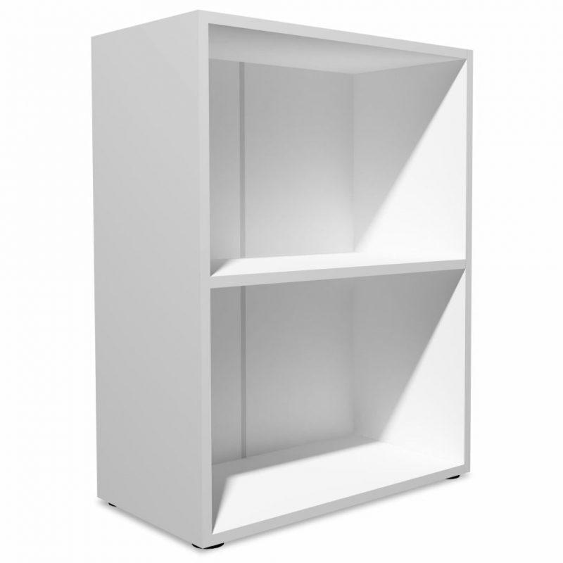 Knjižna polica iverna plošča 60x31x78 cm bele barve