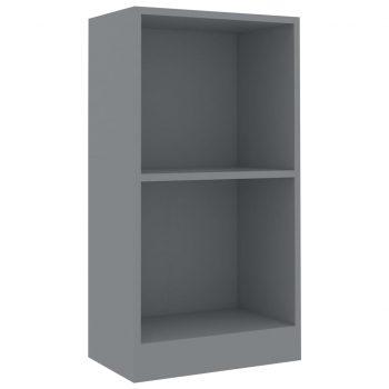 Knjižna polica siva 40x24x75 cm iverna plošča