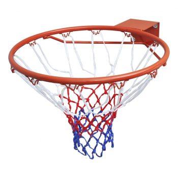Košarkaški Koš Set z Obročem in Mrežo Oranžne Barve