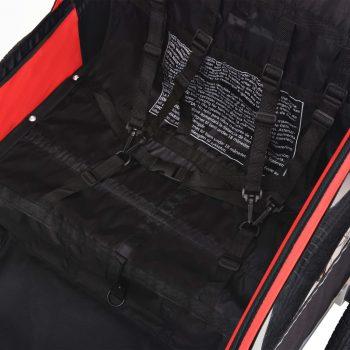 Kolesarska prikolica za otroke rdeča in črna 30 kg