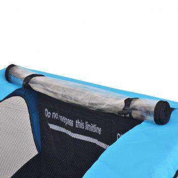 Kolesarska prikolica za otroke siva in modra 30 kg