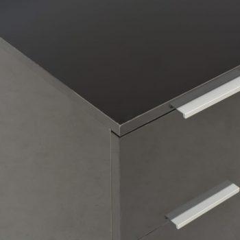 Komoda visok sijaj črna 60x35x76 cm iverna plošča