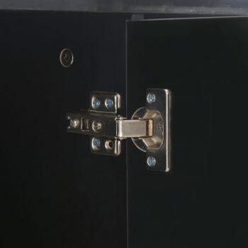 Komoda visok sijaj črna 71x35x76 cm iverna plošča