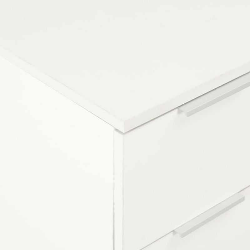 Komoda visok sijaj bela 60x35x76 cm iverna plošča