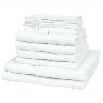Komplet 12 brisač bombaž 500 gsm bele