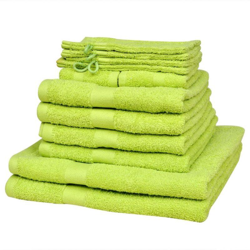 Komplet 12 brisač bombaž 500 gsm svetlo zelene