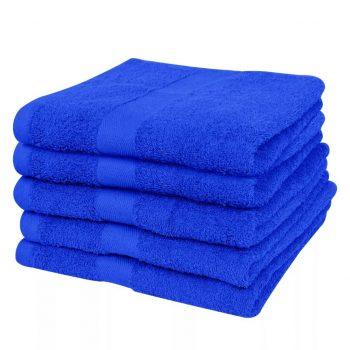 Kopalne brisače 5 kosov bombaž 500 gsm 100x150 cm živo modre