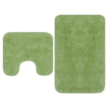 Kopalniške preproge 2 kosa blago zelene barve