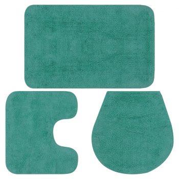 Kopalniške preproge 3 kosi blago turkizne barve