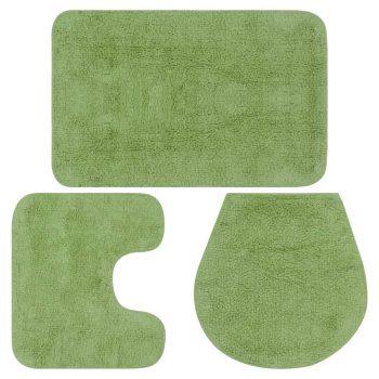 Kopalniške preproge 3 kosi blago zelene barve