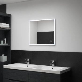 Kopalniško LED stensko ogledalo s senzorjem na dotik 60x50 cm