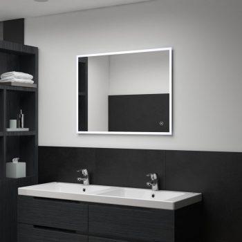 Kopalniško LED stensko ogledalo s senzorjem na dotik 80x60 cm