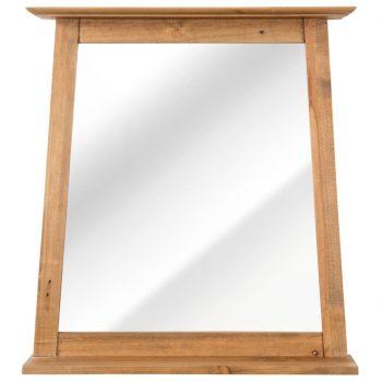 Kopalniško ogledalo iz trdne predelane borovine 70x12x79 cm