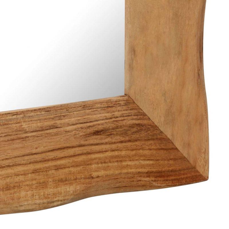 Kozmetično ogledalo 50x50 cm trden akacijev les