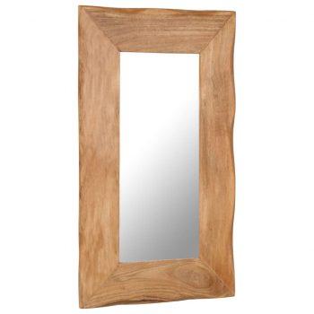 Kozmetično ogledalo 50x80 cm trden akacijev les