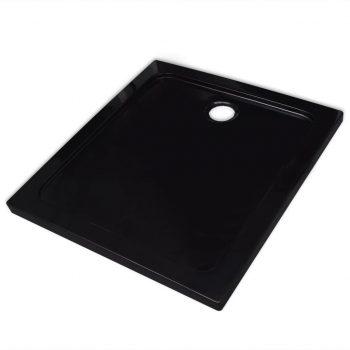 Kvadratna ABS tuš kad črna 80x80 cm