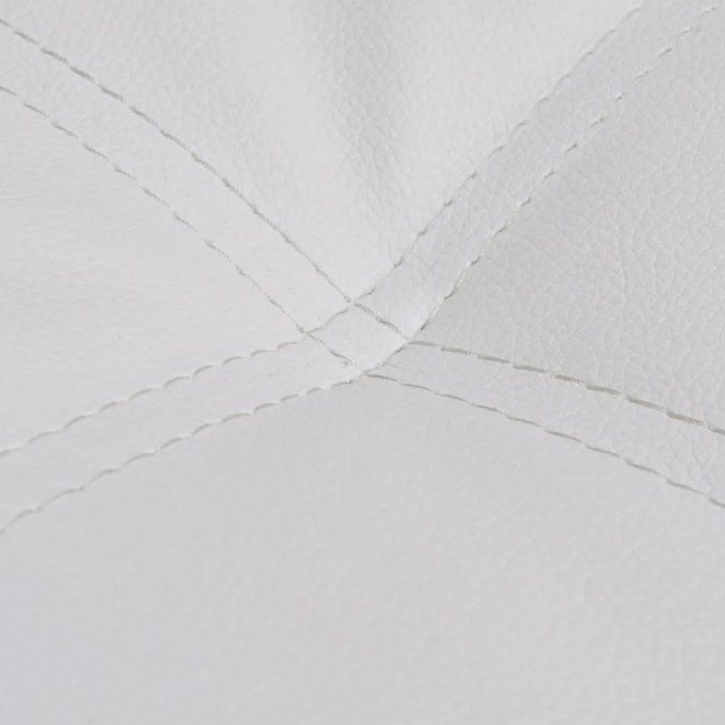 Ležalnik z blazino belo umetno usnje