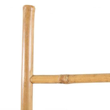 Lestev za brisače s 5 prečkami bambus 150 cm