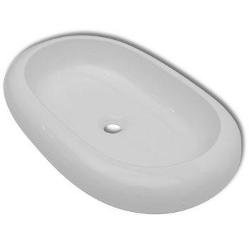 Luksuzni keramični ovalni umivalnik dimenzije 63 x 42 cm