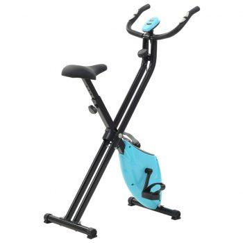 Magnetno sobno kolo X-Bike z merilnikom pulza črno in modro