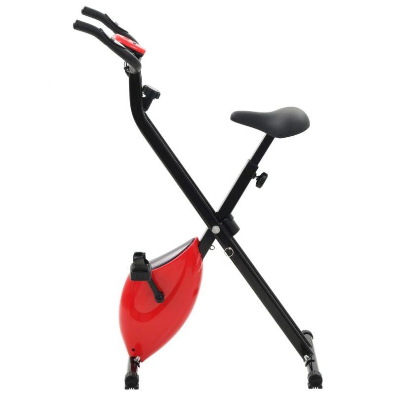 Magnetno sobno kolo X-Bike z merilnikom pulza črno in rdeče
