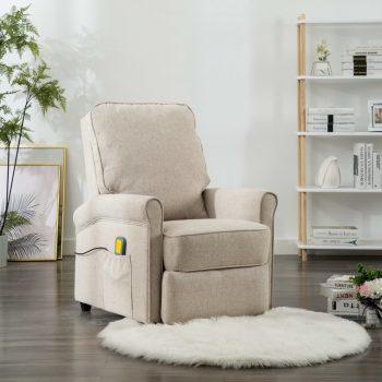 Masažni fotelj krem blago