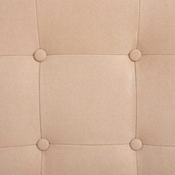 Masažni fotelj s stolčkom za noge krem semiš blago