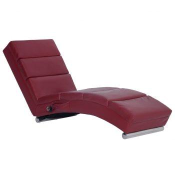 Masažni počivalnik vinsko rdeče umetno usnje