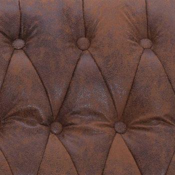 Masažni stol rjavo umetno semiš usnje