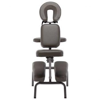 Masažni stol umetno usnje antracit 122x81x48 cm