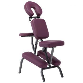 Masažni stol umetno usnje bordo rdeč 122x81x48 cm